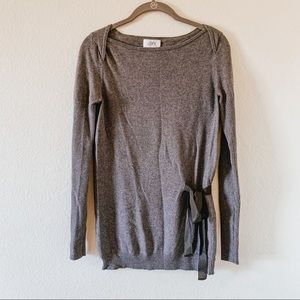 Ann Taylor LOFT front tie Sweater. SMALL.